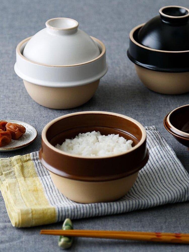 进口益子烧陶土砂锅一人食煲仔饭熬粥直火炖锅煲汤锅现货
