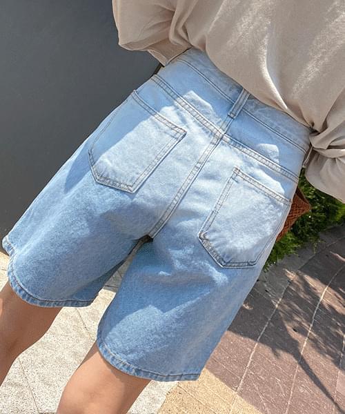 韓國空運 - Gradient part 4 jeans shorts 短褲