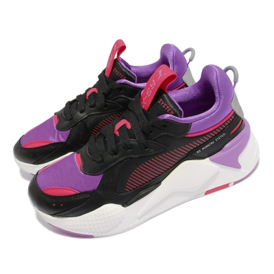 Puma 休閒鞋 RS-X Metallic 女鞋 海外限定 老爹鞋 厚底 撞色 穿搭 黑 紫 桃 37050102