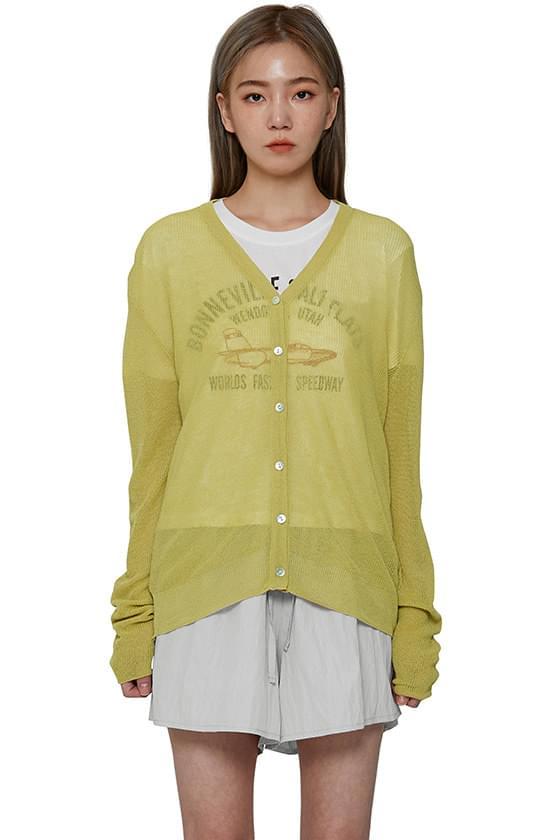 韓國空運 - Wiz linen V-Neck cardigan 針織外套