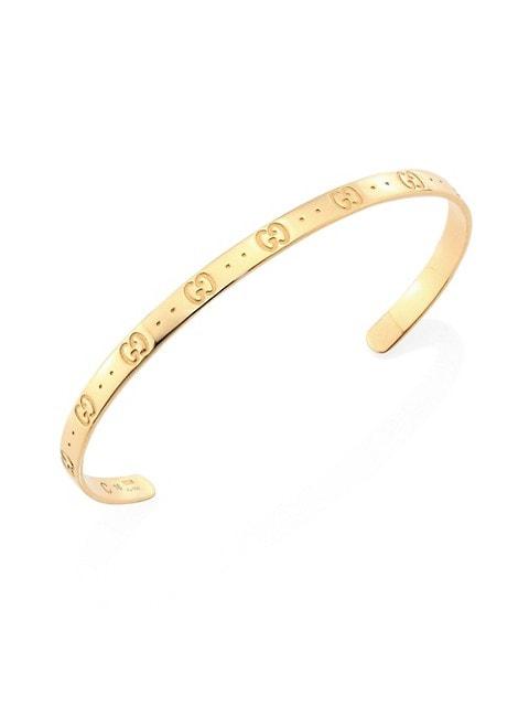 Icon 18K Yellow Gold Bangle Bracelet