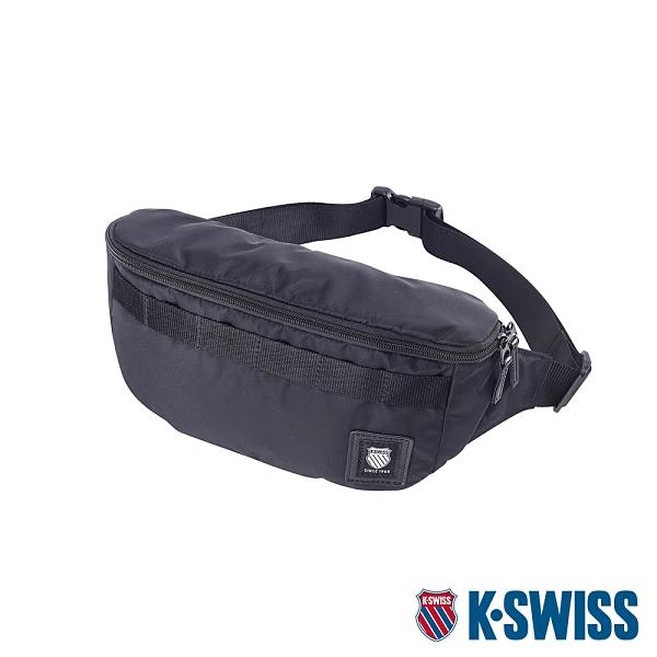 K-SWISS Heritage Waist Bag休閒運動腰包-黑