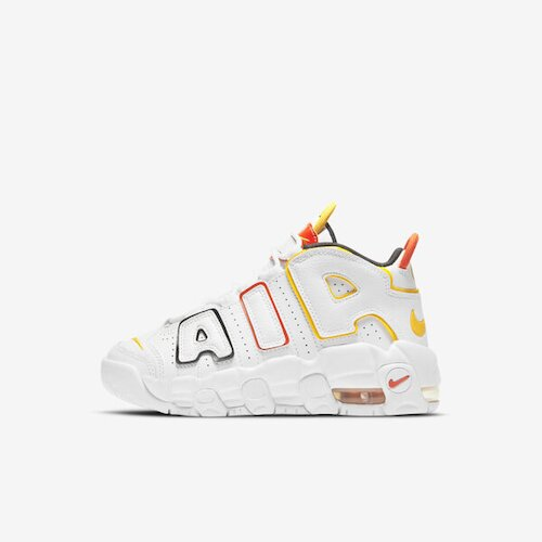 Nike Air More Uptempo (ps) [DD9286-100] 大童鞋 運動 休閒 透氣 穿搭 白 黃