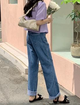 韓國空運 - Slup Wide Date Denim Pants 牛仔褲