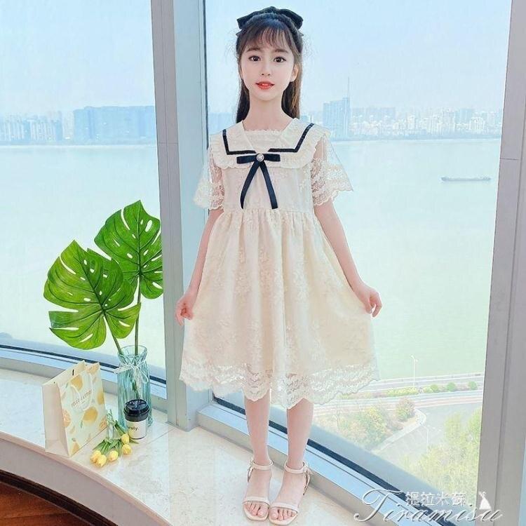 女童洋裝 女童連衣裙夏裝2021新款兒童裝小女孩夏季裙子洋氣時尚超仙公主裙 快速出貨