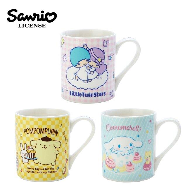 【日本正版】三麗鷗 陶瓷馬克杯 230ml 咖啡杯 馬克杯 雙子星 布丁狗 大耳狗