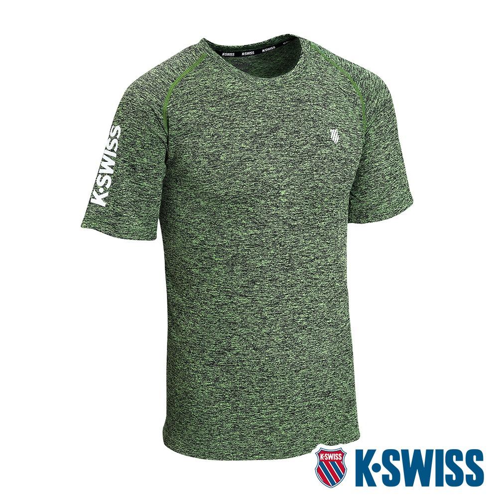 K-SWISS Whs Raglan Sl Tee排汗T恤-男-綠