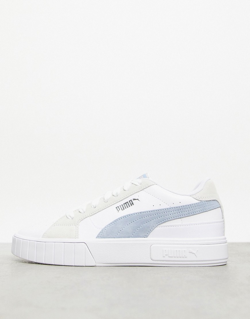 Puma Cali Star trainers in white and forever blue