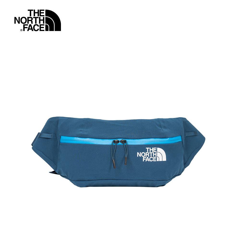 The North Face北面男女款藍色防潑水戶外休閒腰包|52CUYSD