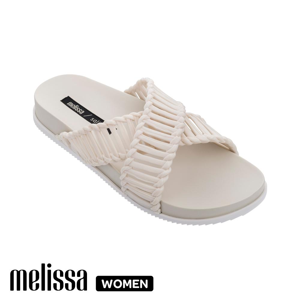 【Women】  Melissa x Salinas聯名 編織交叉拖鞋 象牙白 (MA10-32739 03)