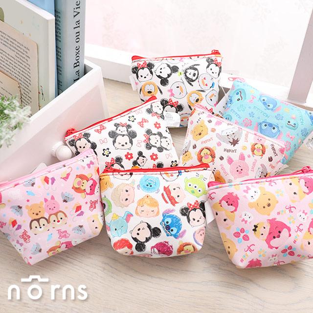 【迪士尼滿版圖繪零錢包TsumTsum】Norns 正版 化妝包 小錢包米奇米妮小熊維尼愛麗絲史迪奇