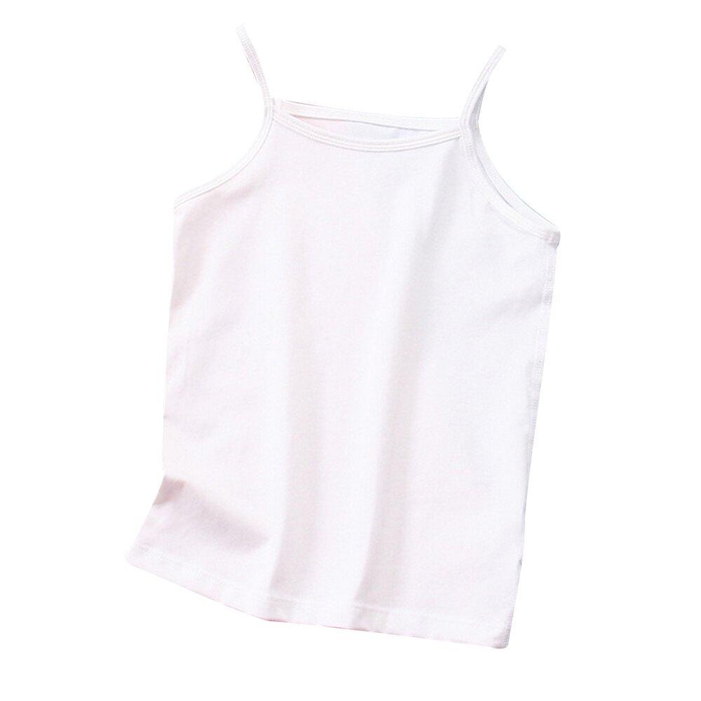 女童背心 素色細肩帶上衣無袖內搭服 細肩帶女童內衣 88705