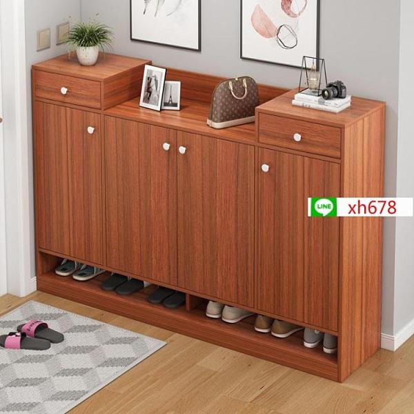 簡易門口鞋架家用經濟型簡約現代室內好看多層收納防塵置物架鞋櫃【頁面價格是訂金價格】