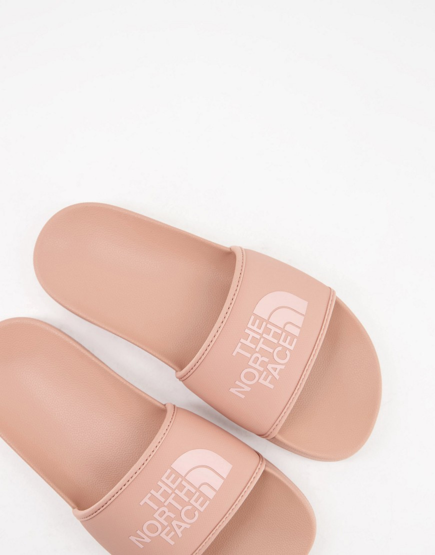 The North Face Base Camp sliders in pink