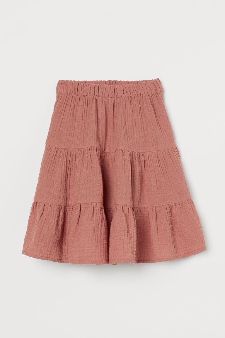 H & M - 二重織傘狀裙 - 粉紅色