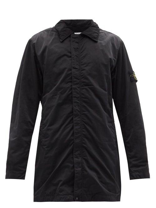 Stone Island - Hyper Dense Nylon-twill Coat - Mens - Black