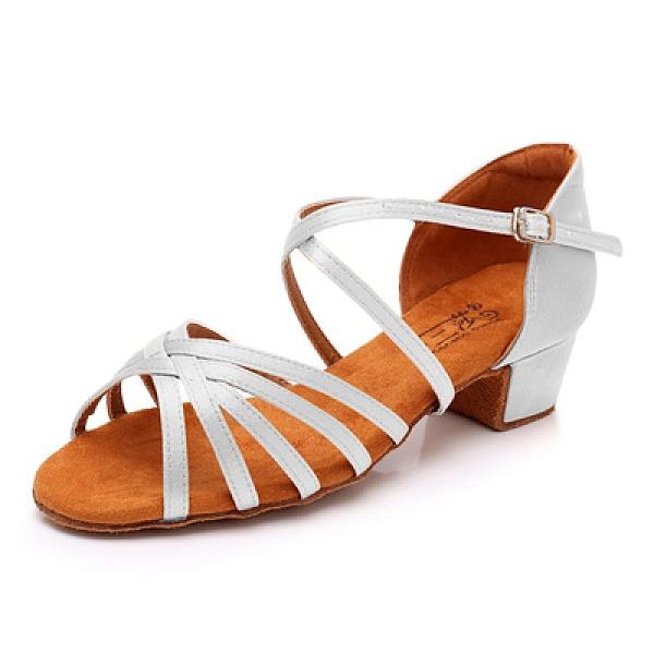 舞蹈鞋 正品三莎專業兒童拉丁舞鞋女童軟底成年女士中跟女孩初學者舞蹈鞋 夢藝家