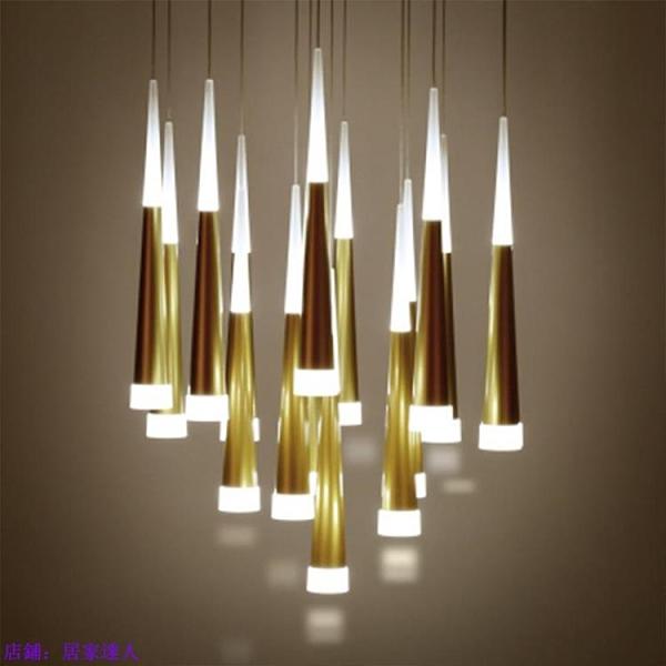 吊燈 別墅復式樓梯間樓道旋轉流星雨輕奢水晶吊燈現代簡約樓梯燈長吊燈