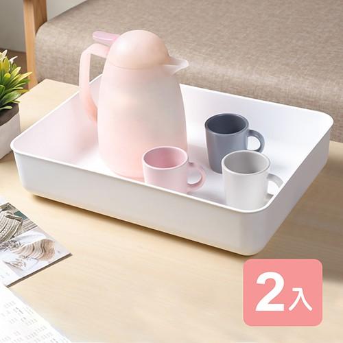 《真心良品》日系純白無雙3號收納盒-2入組