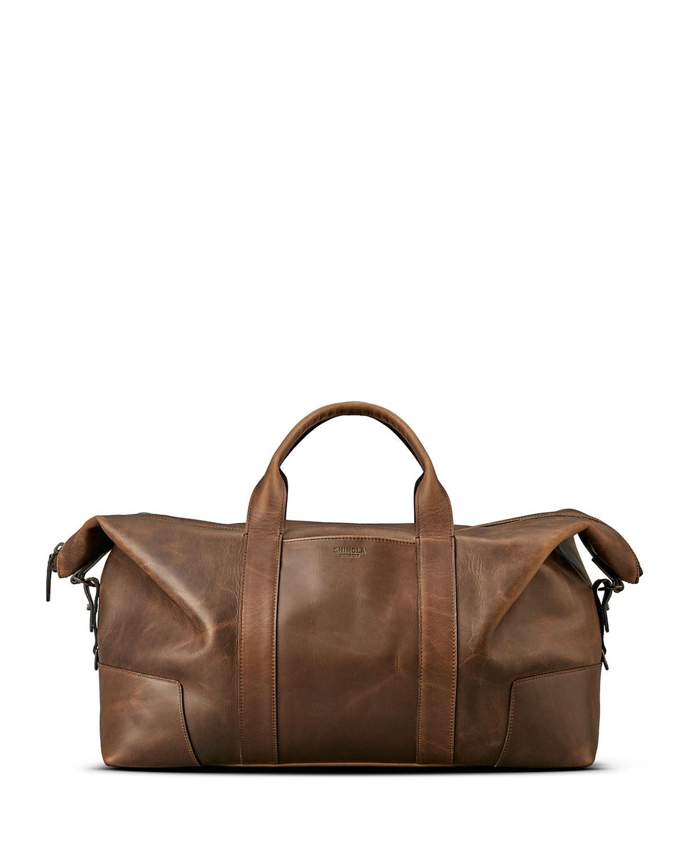 Men's Navigator Large Leather Carryall Duffel Bag