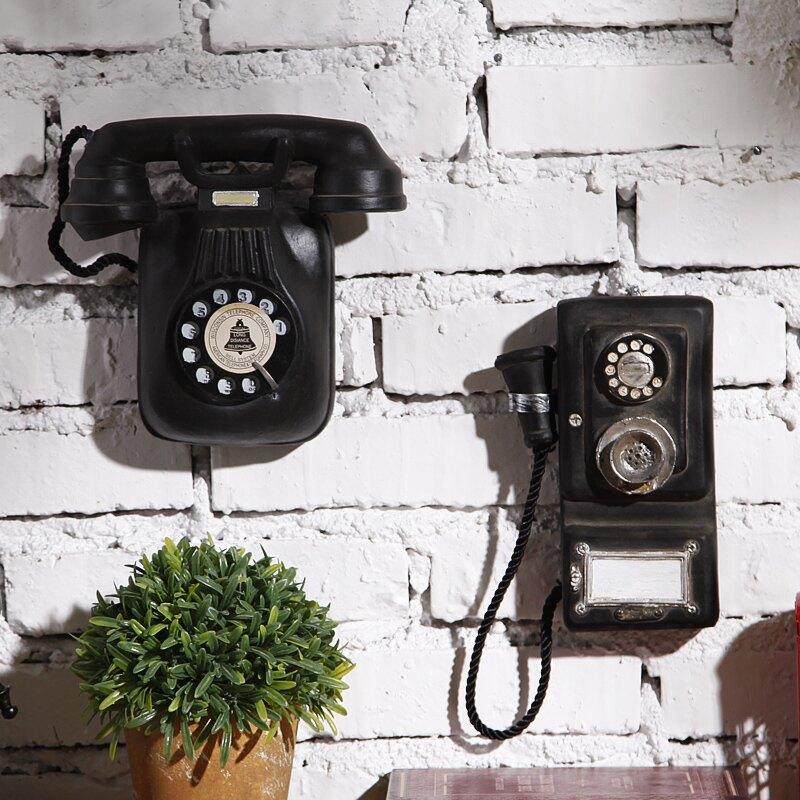 復古電話 歐式復古墻壁電話掛件餐廳創意墻上掛飾酒吧飯店咖啡店鋪墻面裝飾