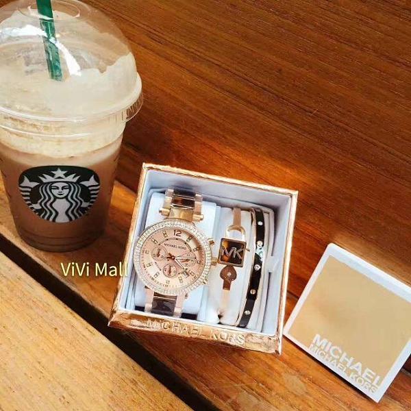 『Marc Jacobs旗艦店』Michael Kors正品實拍 美國代購 MK MK經典時尚手錶手環限量套裝組