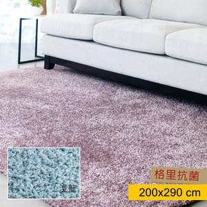 HOLA 格里防螨抗菌地毯200x290cm 淺藍