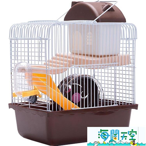 倉鼠籠 小城堡 倉鼠城堡 雙層 小倉鼠的籠子別墅20元以下雙層【海闊天空】