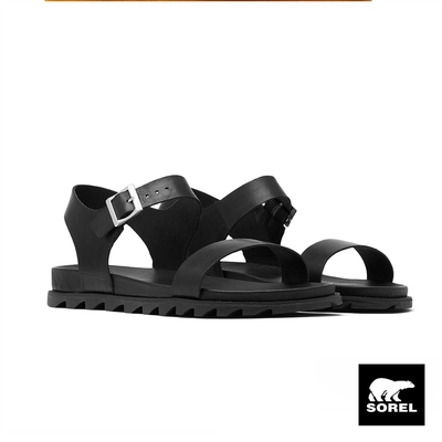 SOREL-女款城市漫遊系列涼鞋-黑色