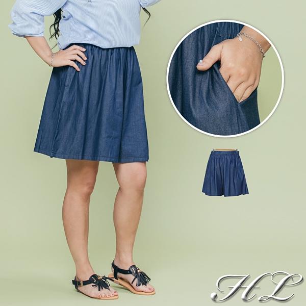 .HL超大尺碼.【21060006】自然墜感舒適修身褲裙 1色