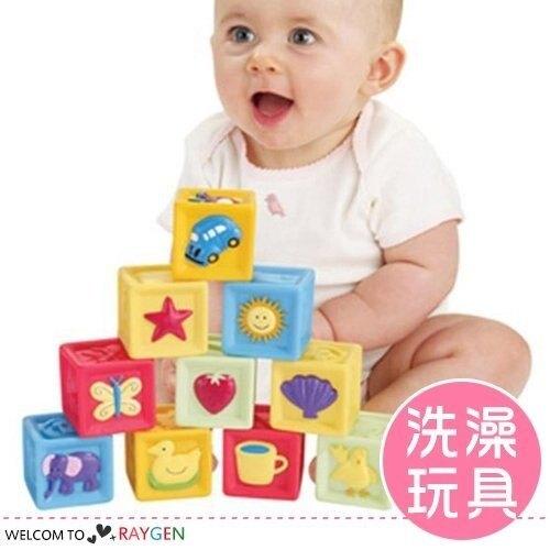 認識動物形狀軟膠積木 嬰兒益智玩具