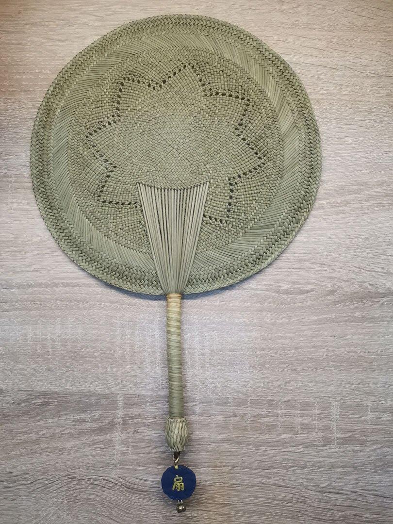 蒲扇 蒲扇中國風古典手工扇漢服古風手搖納涼兒童驅蚊傳統草編老式扇子