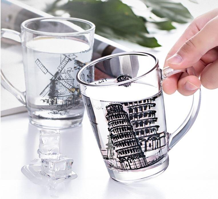 樂天精品 快速出貨 大容量玻璃馬克杯帶把家用可愛創意辦公室咖啡牛奶熱水杯