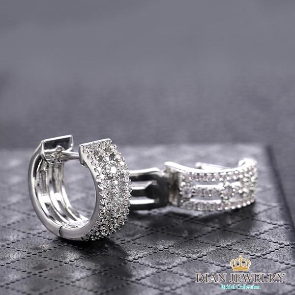 【DIAN 黛恩珠寶】三世情 CZ鑽造型耳環(HT7562)