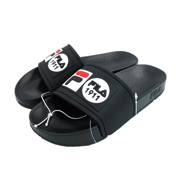 FILA 拖鞋 防水拖鞋 厚底 1911LOGO 黑色 男女尺寸【4S351V001】