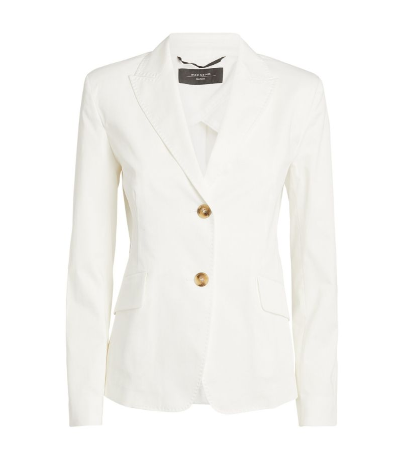 Weekend Max Mara Stretch-Cotton Blazer