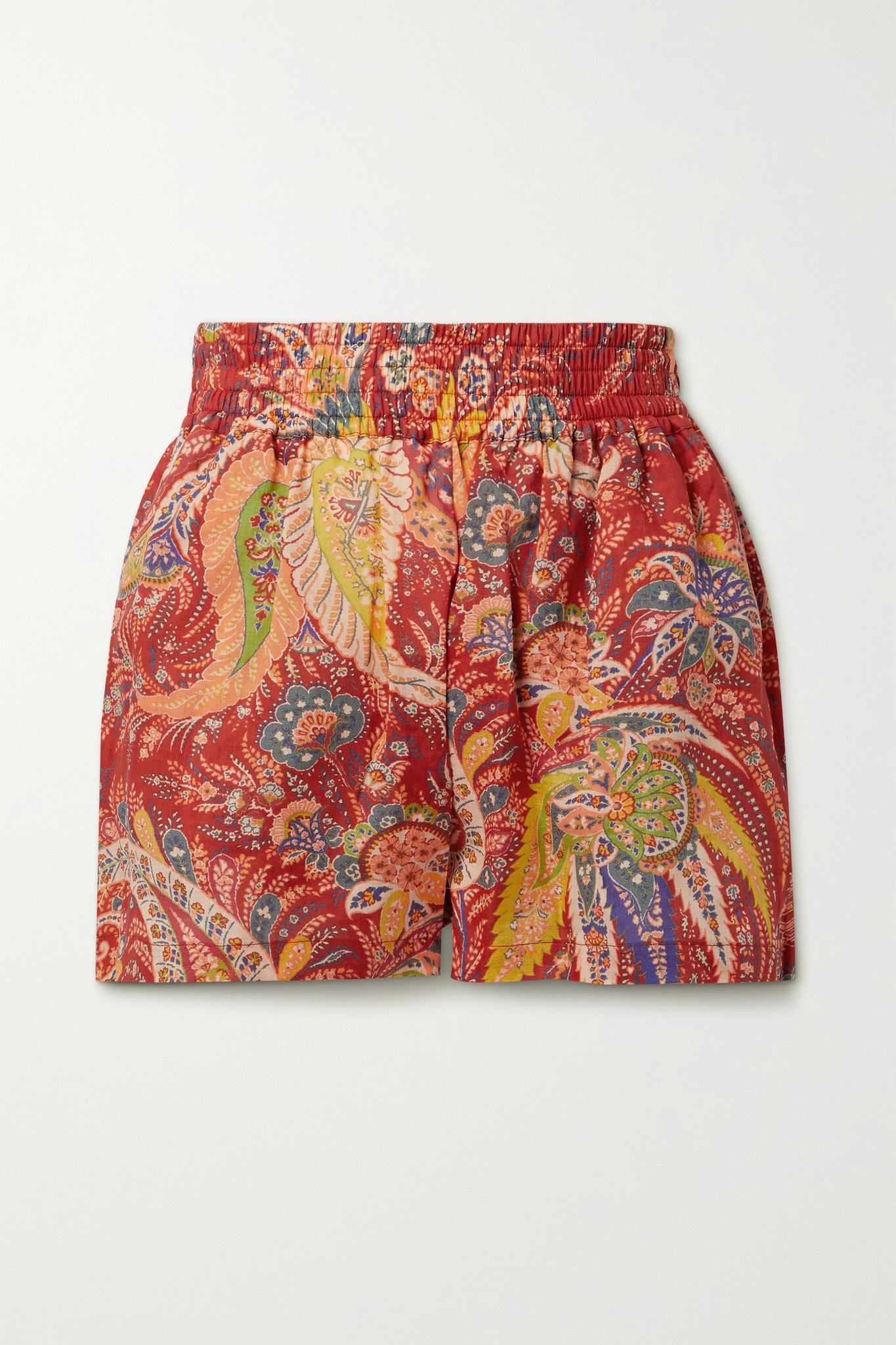 ETRO - Cipro Paisley-print Ramie Shorts - Red - IT38