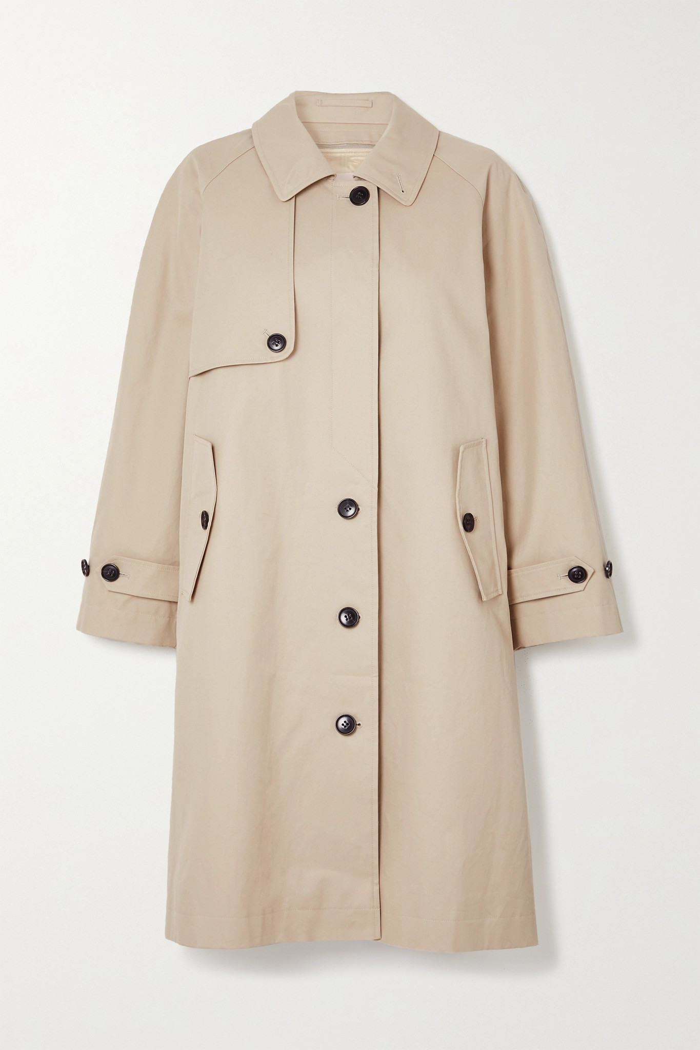 FRAME - Cotton-twill Trench Coat - Neutrals - x small
