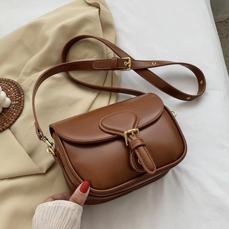 韓國空運 - Basic Buckle Cross Shoulder Bag 肩背包