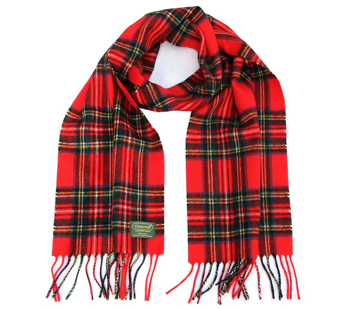 Glencroft 英伦100%纯羊毛格子围巾