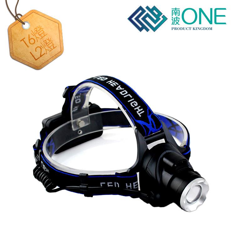 [南波one] l2 變焦探照頭燈 贈電池+ 頭帶 帽夾燈 夾帽燈 帽燈 usb 頭燈 usb夾燈