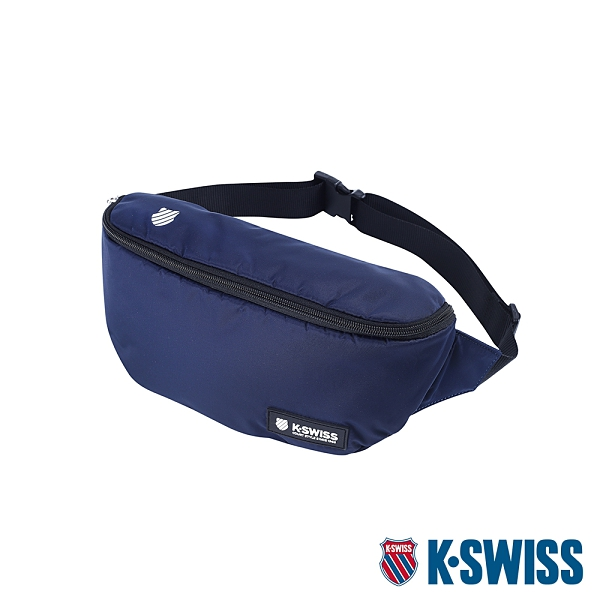 K-SWISS KS Patch Waist Bag運動休閒腰包-藍