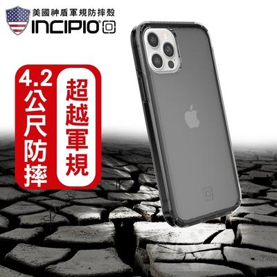 【INCIPIO】iPhone 12/12 Pro 超輕鎧甲手機防摔保護殼/套-透黑