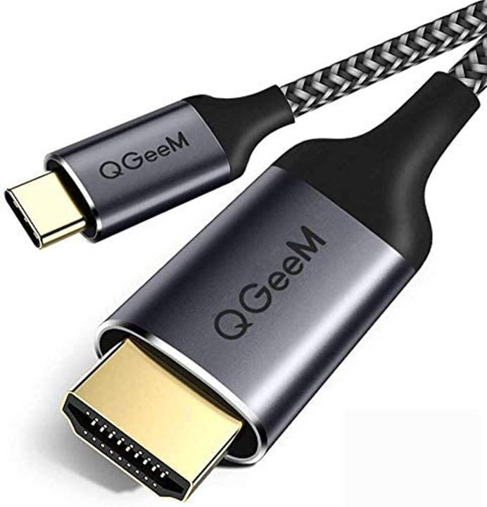 【日本代購】USB C型HDMI轉換適配器USB C至HDMI電纜6ft(1.8m)編織4K @ 60hz HDMI電纜