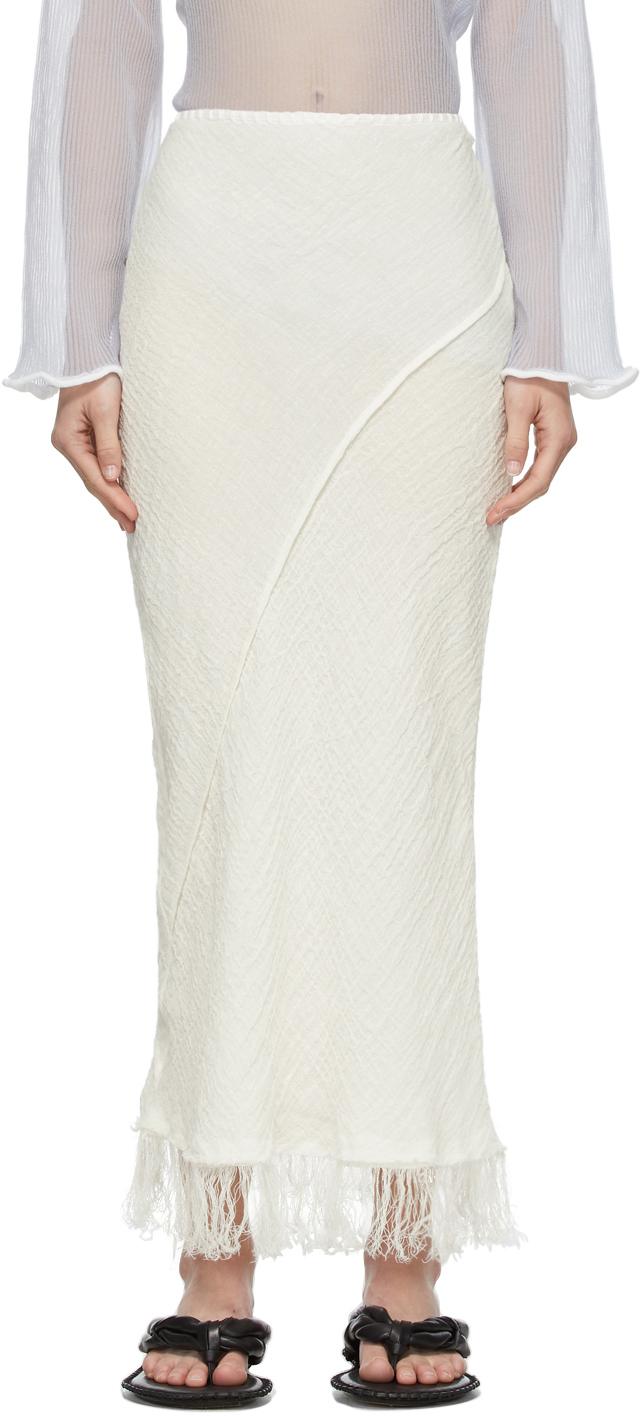 Acne Studios 白色流苏半身裙
