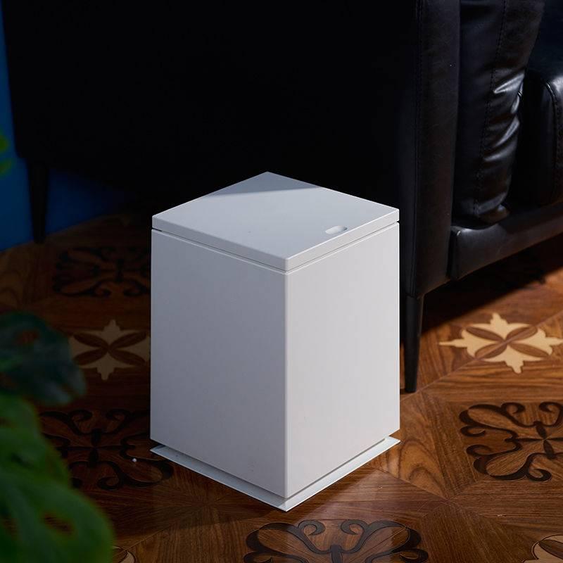 正方形按壓式垃圾桶 質感北歐風 客廳廁所帶蓋 有內桶家用大號 手按彈蓋垃圾桶