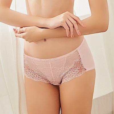 可蘭霓Clany 純愛日記低敏蕾絲透氣中腰 M-XL 內褲 甜蜜粉