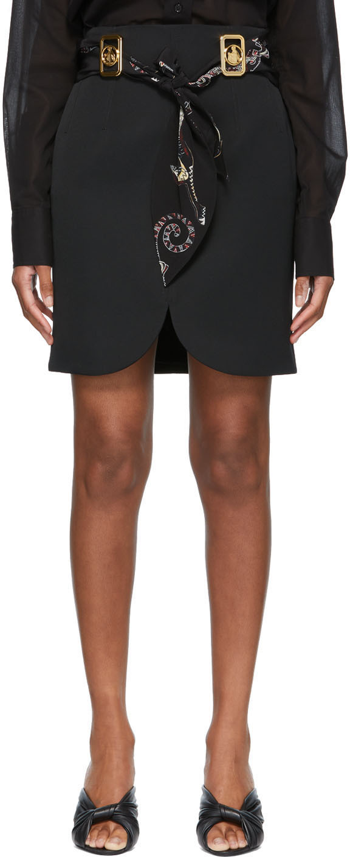 Lanvin 黑色束带短裙
