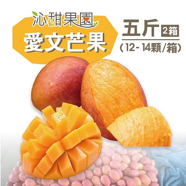 沁甜果園SSN.屏東枋山愛文芒果5台斤(12-14粒/箱,共2箱)﹍愛食網