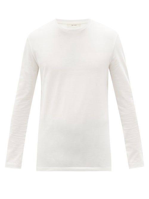 The Row - Leon Cotton-jersey Long-sleeved T-shirt - Mens - White